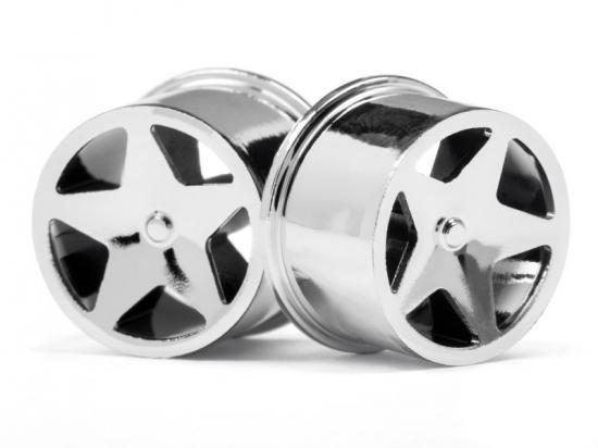 HPI Baja Q32 Super Star Wheel Set - Chrome - 4 Pack