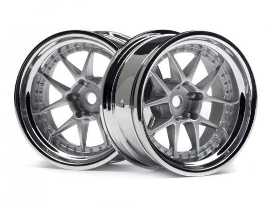 HPI Dy-Champion 26mm Wheel (Chrome/Silver/9mm Os/2Pcs)