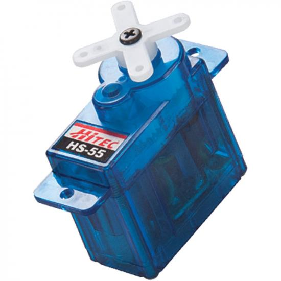 Hitec HS55 Eco Feather Servo 7.5g Hybrid I.C Blue