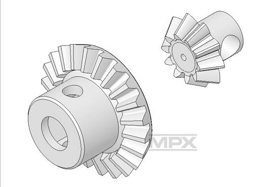 Multiplex Main Gear Wheel Set Funcopter 223028