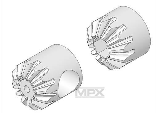 Multiplex Tail Gear Wheel Set Funcopter 223029
