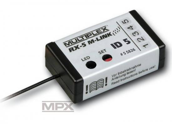 Multiplex Mpx Receiver Rx-5 M-Link Id 5 2.4 Ghz 55826