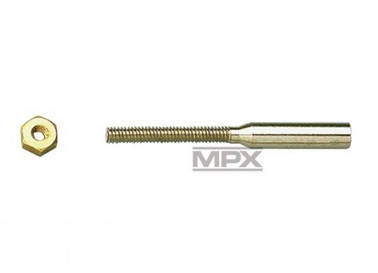 Multiplex Solder Coupler M3 +26mm 10 Pcs. 702031