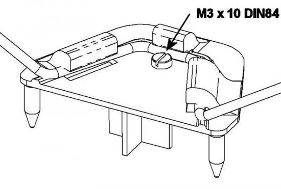 Multiplex Undercarriage Support With Screw 723135
