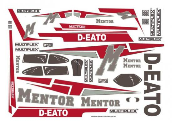 Multiplex Decal Sheet Mentor 724482