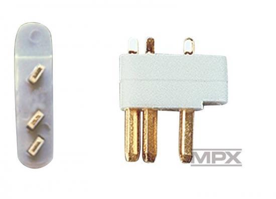 Multiplex Mpx 3-Pin Servo Plugs 5 Pcs. (Mpx) 85218