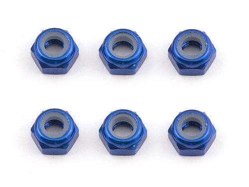 Associated Ft M3 Locknut Blue Aluminium