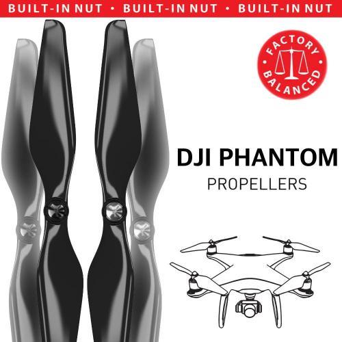 DJI Phantom Built-in Nut Upgrade Propellers - MR PH 9.4x5 Set x4 Black