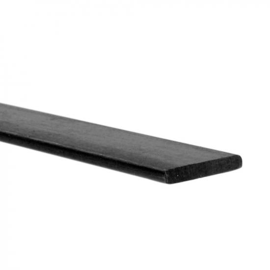 J Perkins Carbon Fibre Batten/Strip 1.0mmx5.0mm X 1Mt
