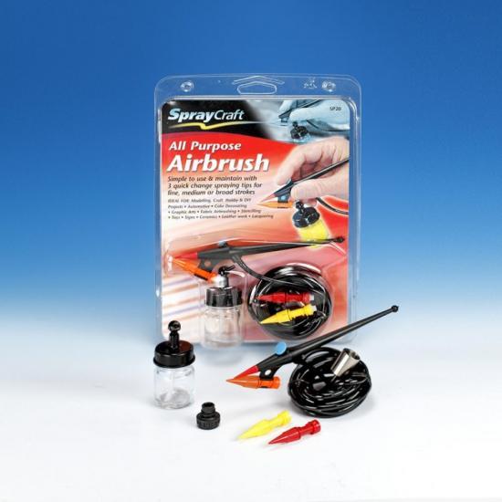 Spraycraft Sp20 Multi-Tip All-Purpose Airbrush