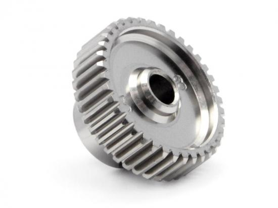 Aluminium Pinion Gear 38 Tooth Hard Anodized 64DP