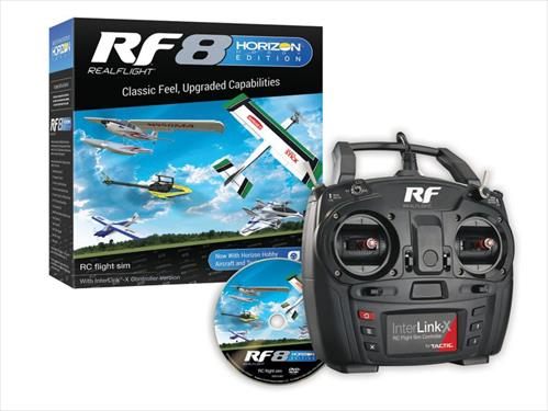 RealFlight RF8 Horizon Hobby Edition - with Interlink X Transmitter (Includes Free Upgrade to RF9)