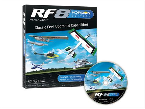 RealFlight 8 RF8 Horizon Hobby Edition - Software Only (Includes Free Upgrade to RF9)