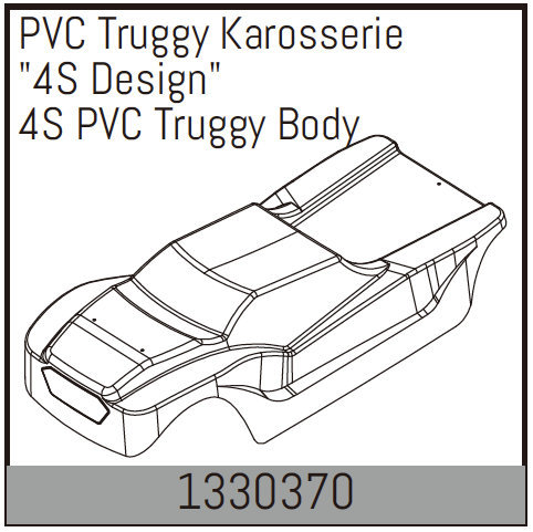 Absima 4S PVC Truggy Body