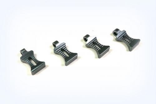 Absima Aluminium Body Clip Pulls - Gun Metal - Set of 4 ** CLEARANCE **