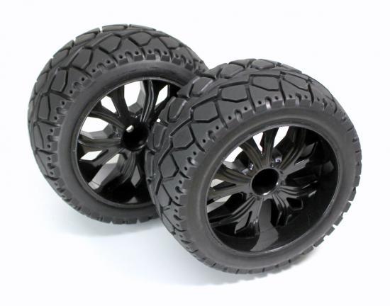 Absima Wheel Set - 1:10 Buggy Rear - Street Pattern (2)