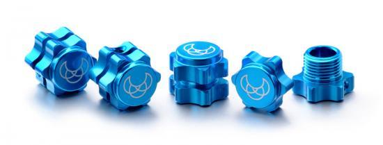Absima Wheel Hub Set 17mm blue (4)