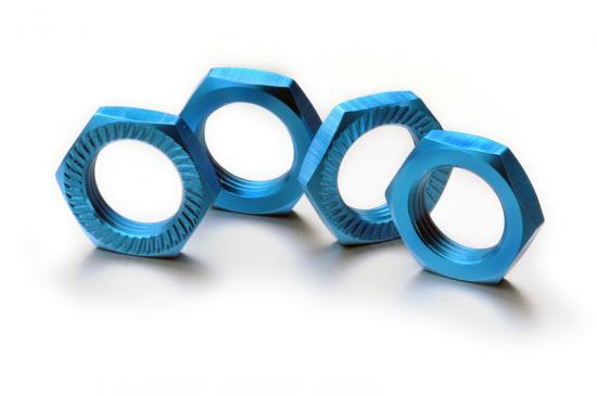 Absima Hex locknut 17mm blue (4)