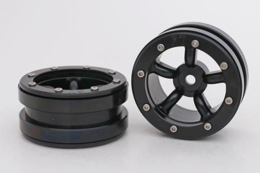 Metsafil Beadlock Wheels PT-Safari Black/Black 1.9 (2 pcs)