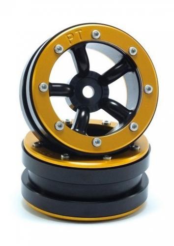 Metsafil Beadlock Wheels PT-Safari Black/Gold 1.9 (2 pcs)