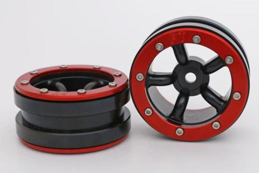 Metsafil Beadlock Wheels PT-Safari Black/Red 1.9 (2 pcs)?