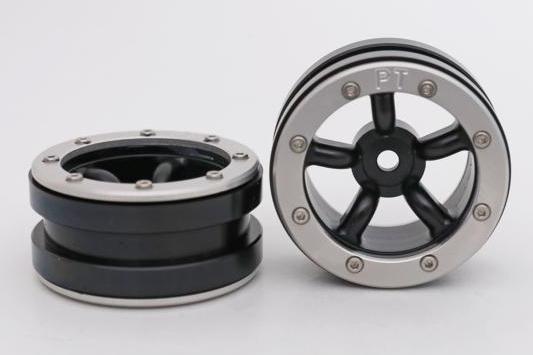 Metsafil Beadlock Wheels PT-Safari Black/Silver 1.9 (2 pcs)?