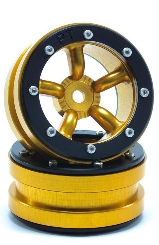 Metsafil Beadlock Wheels PT-Safari Gold/Black 1.9 (2 pcs)
