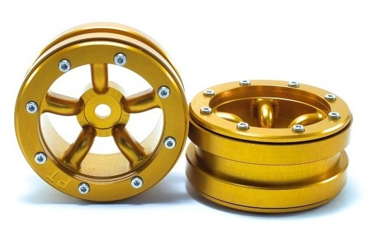 Metsafil Beadlock Wheels PT-Safari Gold/Gold 1.9 (2 pcs)