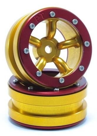 Metsafil Beadlock Wheels PT-Safari Gold/Red 1.9 (2 pcs)