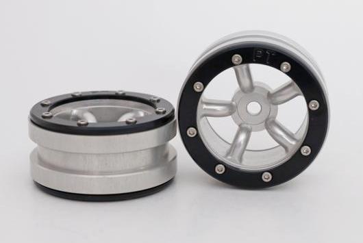 Metsafil Beadlock Wheels PT-Safari Silver/Black 1.9 (2 pcs)?