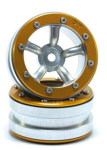 Metsafil Beadlock Wheels PT-Safari Silver/Gold 1.9 (2 pcs)