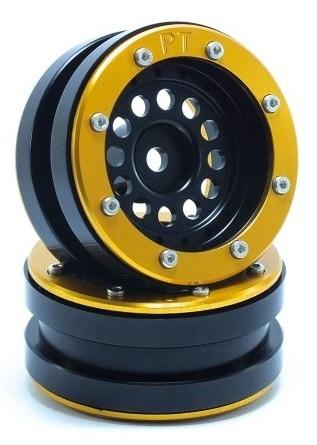 Metsafil Beadlock Wheels PT-Bullet Black/Gold 1.9 (2 pcs)