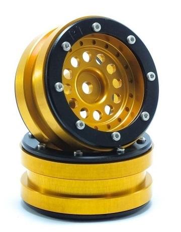 Metsafil Beadlock Wheels PT-Bullet Gold/Black 1.9 (2 pcs)