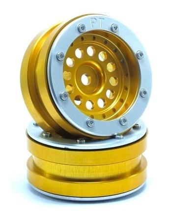 Metsafil Beadlock Wheels PT-Bullet Gold/Silver 1.9 (2 pcs)