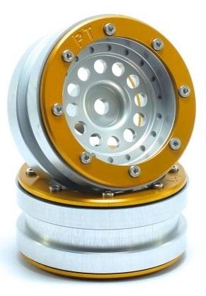 Metsafil Beadlock Wheels PT-Bullet Silver/Gold 1.9 (2 pcs)