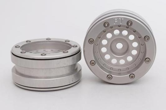 Metsafil Beadlock Wheels PT-Bullet Silver/Silver 1.9 (2 pcs)?