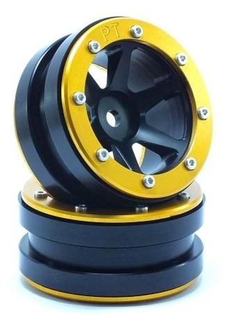 Metsafil Beadlock Wheels PT-Slingshot Black/Gold 1.9 (2 pcs)