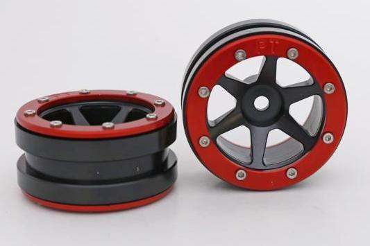 Metsafil Beadlock Wheels PT-Slingshot Black/Red 1.9 (2 pcs)?