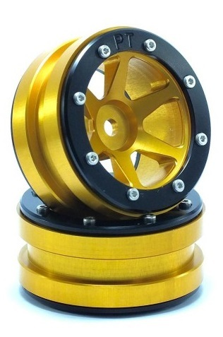 Metsafil Beadlock Wheels PT-Slingshot Gold/Black 1.9 (2 pcs)