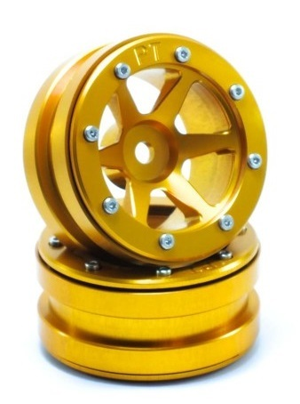 Metsafil Beadlock Wheels PT-Slingshot Gold/Gold 1.9 (2 pcs)