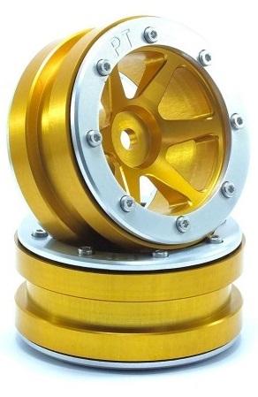 Metsafil Beadlock Wheels PT-Slingshot Gold/Silver 1.9 (2 pcs)