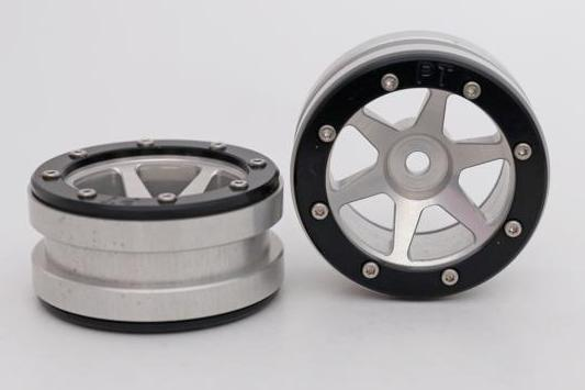 Metsafil Beadlock Wheels PT-Slingshot Silver/Black 1.9 (2 pcs)?
