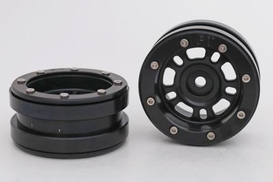 Metsafil Beadlock Wheels PT-Distractor Black/Black 1.9 (2 pcs)?