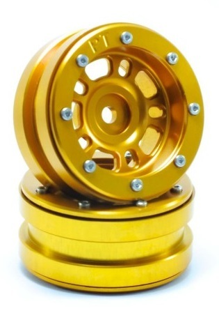 Metsafil Beadlock Wheels PT-Distractor Gold/Gold 1.9 (2 pcs)
