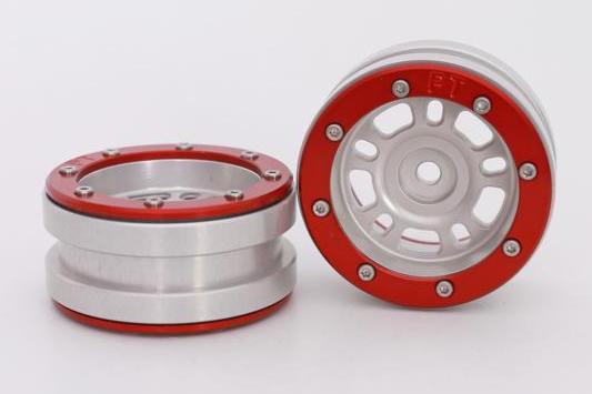 Metsafil Beadlock Wheels PT-Distractor Silver/Red 1.9 (2 pcs)?