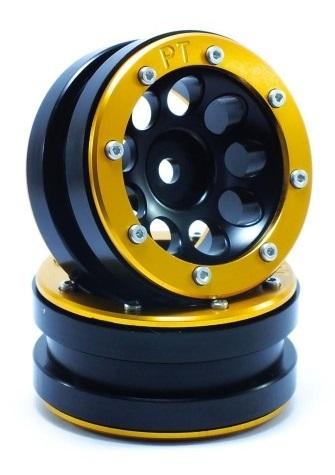 Metsafil Beadlock Wheels PT-Ecohole Black/Gold 1.9 (2 pcs)