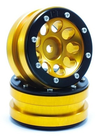 Metsafil Beadlock Wheels PT-Ecohole Gold/Black 1.9 (2 pcs)