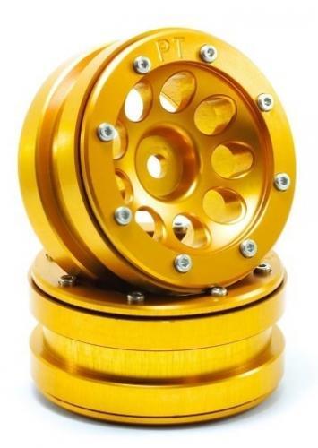 Metsafil Beadlock Wheels PT-Ecohole Gold/Gold 1.9 (2 pcs)