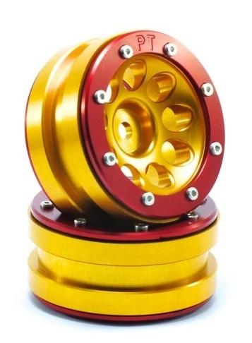 Metsafil Beadlock Wheels PT-Ecohole Gold/Red 1.9 (2 pcs)