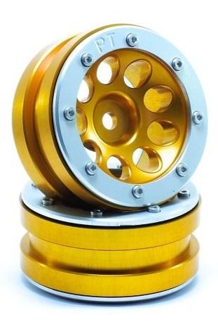 Metsafil Beadlock Wheels PT-Ecohole Gold/Silver 1.9 (2 pcs)